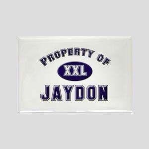 Property of jaydon Rectangle Magnet