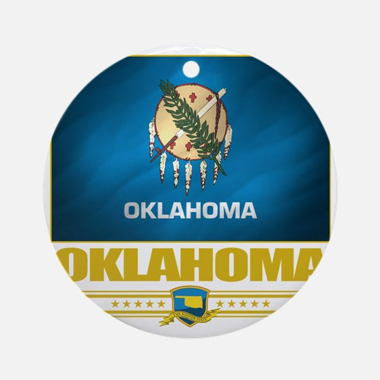 Oklahoma (Flag 10) Round Ornament