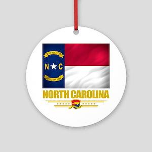 North Carolina (Flag 10) Round Ornament