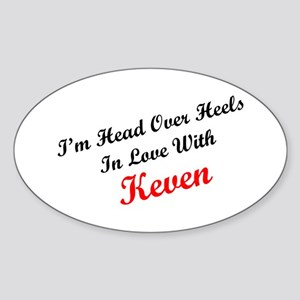 In Love with Keven Oval Sticker
