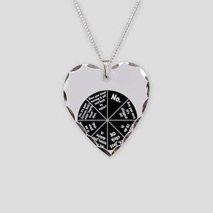 IT Response Wheel Necklace Heart Charm