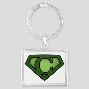Super green c Landscape Keychain