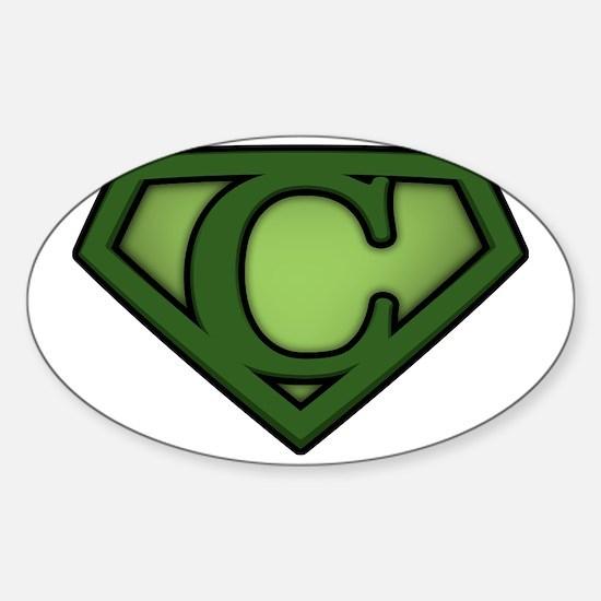 Super green c Sticker (Oval)