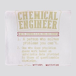 Chemical Engineer Funny Dictionary T Throw Blanket