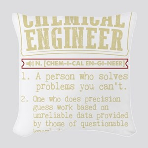 Chemical Engineer Funny Dictio Woven Throw Pillow