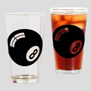 8-ball-toony-LTT Drinking Glass