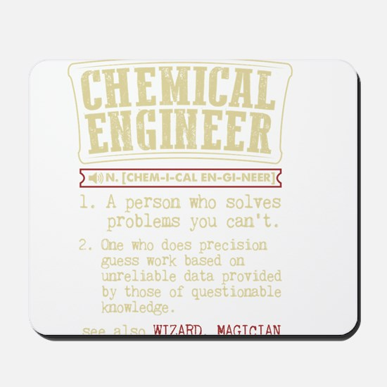 Chemical Engineer Funny Dictionary Term Mousepad