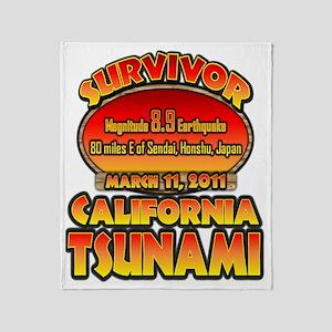 california_tsunamicp Throw Blanket