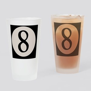 8-ball-8-BUT Drinking Glass