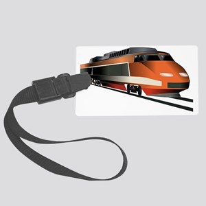 Fast Train Large Luggage Tag
