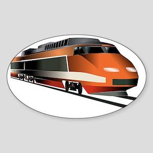 Fast Train Sticker (Oval)