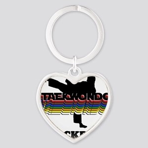 TKD-BlackBelt-Colors Heart Keychain