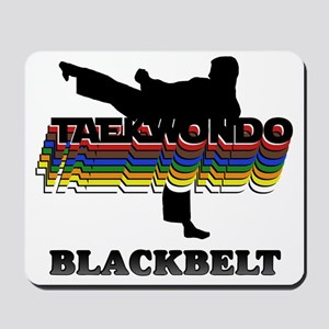 TKD-BlackBelt-Colors Mousepad