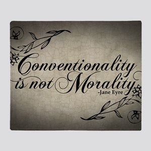 conventionality-is-not-morality_12x1 Throw Blanket