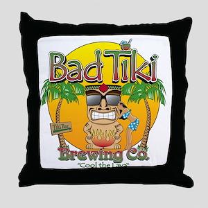 Bad Tiki - Revised Throw Pillow