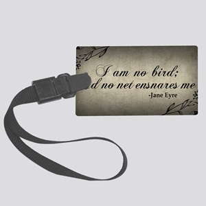 no-net-ensnares-me_9x18 Large Luggage Tag