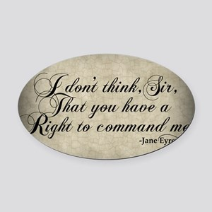 right-to-command-me_sb Oval Car Magnet