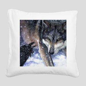 The Messenger Square Canvas Pillow