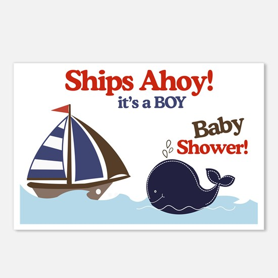 Ships Ahoy Yard Sign Baby Postcards (Package of 8)