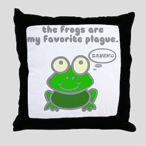 frog-plague Throw Pillow