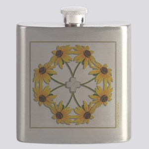 BlackEyedSusans_t-shirt Flask