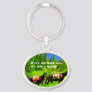 justhorse Oval Keychain