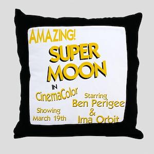 supermoon super moon Throw Pillow