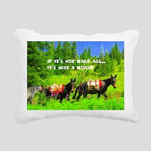justhorse Rectangular Canvas Pillow