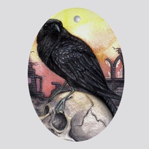 Raven Oval Ornament
