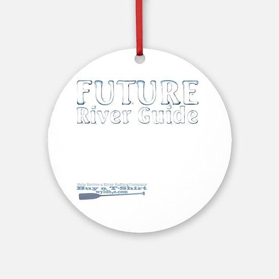 Future River Guide boy Round Ornament