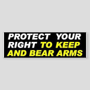 Protect Your Gun Rights Bumper Sticker