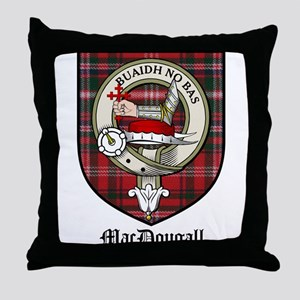 MacDougall Clan Crest Tartan Throw Pillow