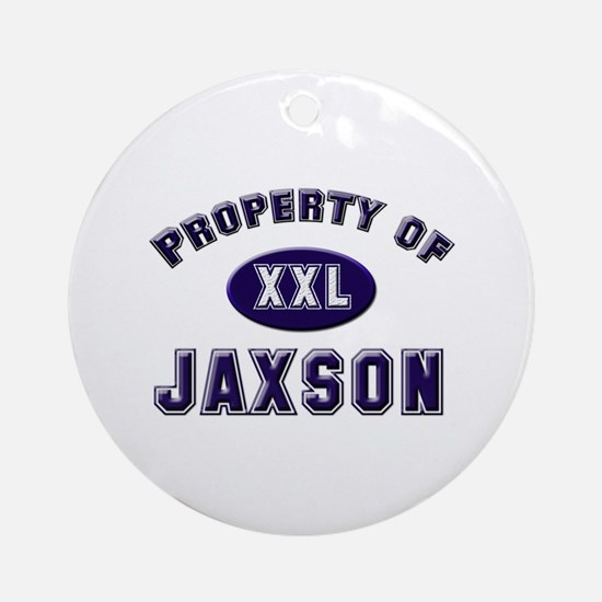 Property of jaxson Ornament (Round)