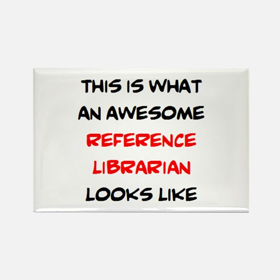 awesome reference librarian Rectangle Magnet