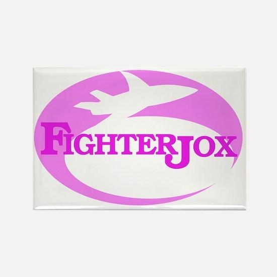 fj-logo-4-pink-on-white Rectangle Magnet