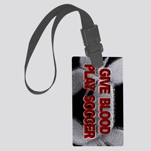 Play Soccer Large Luggage Tag