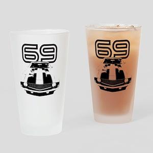 Camaro 1969 copy Drinking Glass
