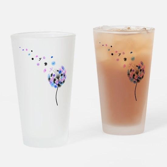 Dandelion rainbow Drinking Glass