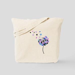 Dandelion rainbow Tote Bag