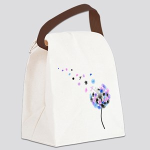 Dandelion rainbow Canvas Lunch Bag