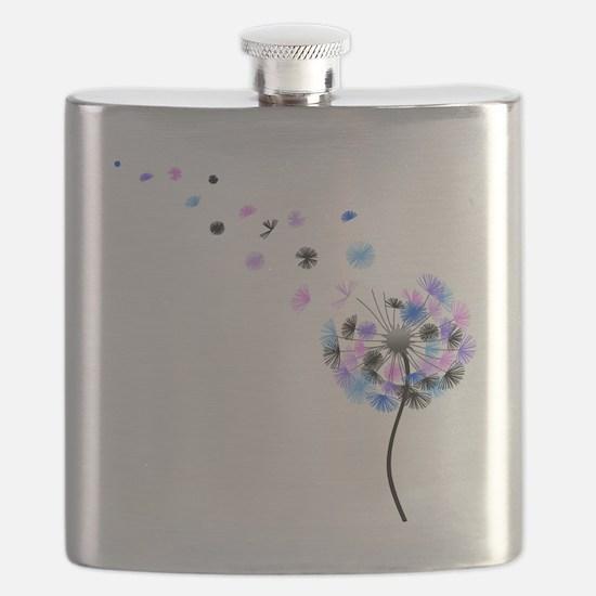 Dandelion rainbow Flask