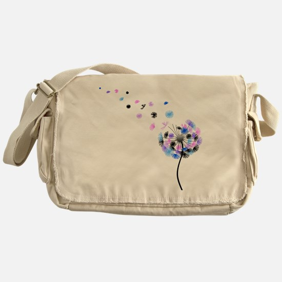 Dandelion rainbow Messenger Bag