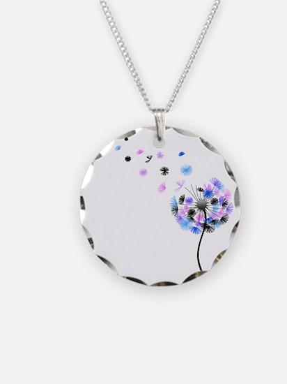 Dandelion rainbow Necklace