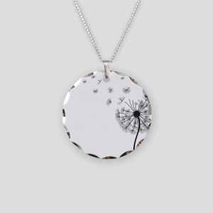 Dandelion Necklace Circle Charm
