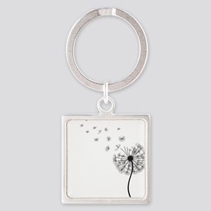 Dandelion Square Keychain