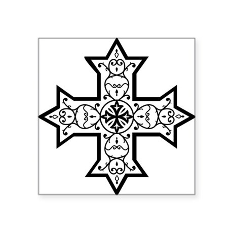 """copticcrossb Square Sticker 3"""" x 3"""""""