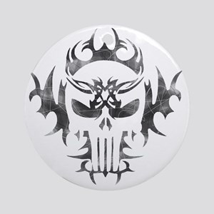 Punisher Skull Round Ornament