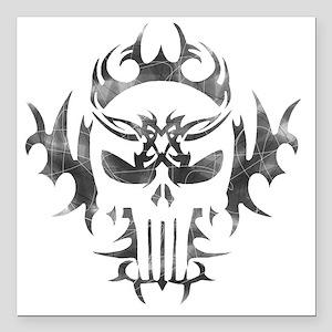"""Punisher Skull Square Car Magnet 3"""" x 3"""""""