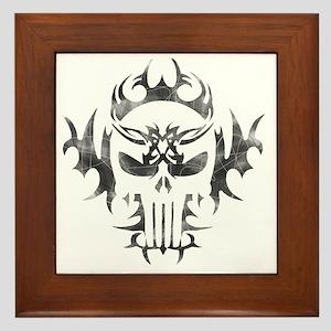 Punisher Skull Framed Tile