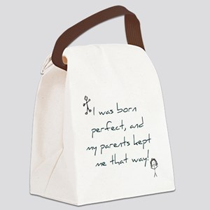 Born Perfect Canvas Lunch Bag